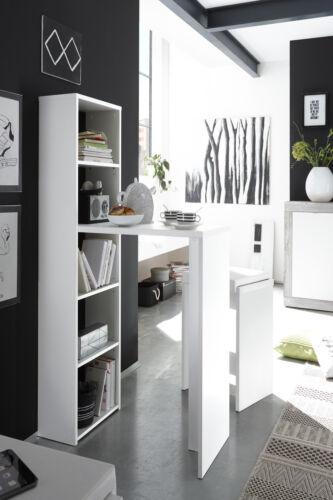 Tresentisch Köln mit Regal weiß matt Tresentisch Tisch Küchentisch