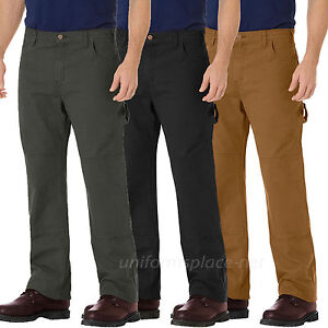 1a77010885c9f8 Dickies Work Jeans Mens Relaxed Fit Double Knee Carpenter Duck Jean ...