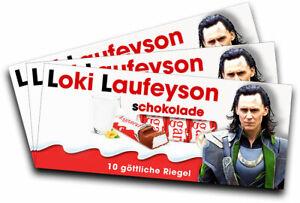 Liefern 3x Aufkleber Loki Laufeyson Für Kinderschokolade geschenk, Gadget Dauerhafter Service