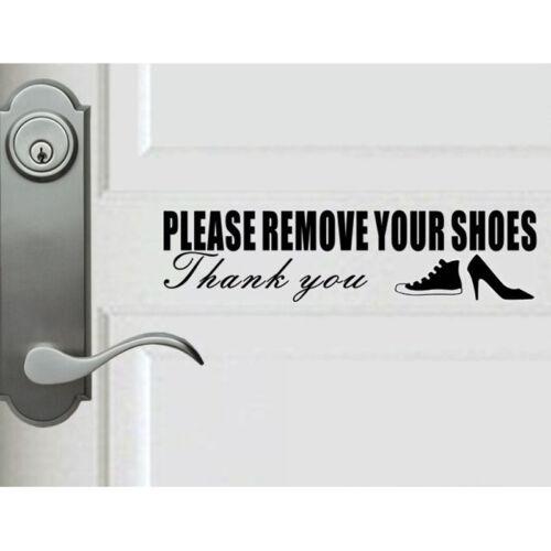 Polite Please Remove Shoes Thank You Door Wall StickerHome Decor Vinyl Decal