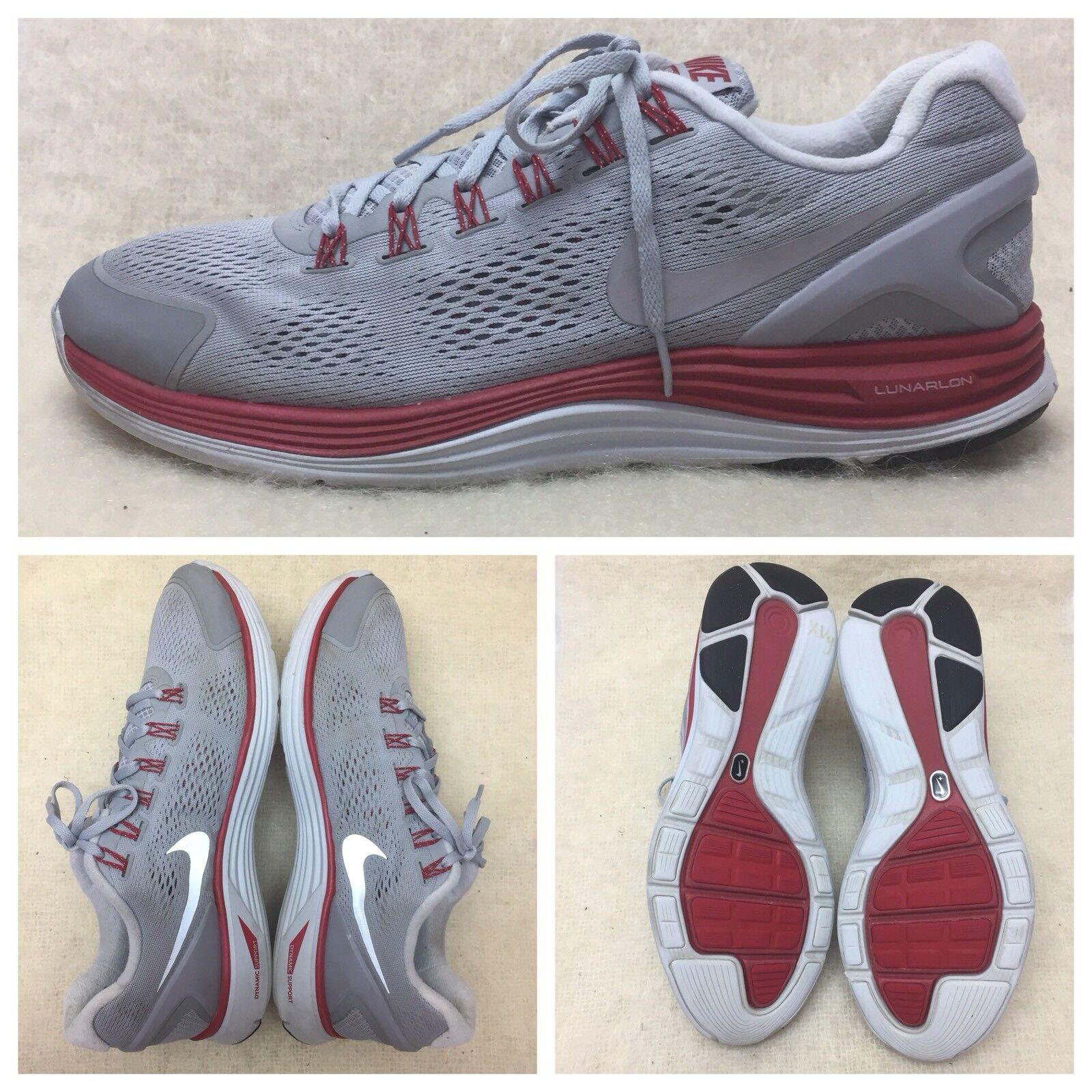 Nike lunarglide   4 uomini 524977-005 atletico scarpa da corsa, noi 14 noi gray