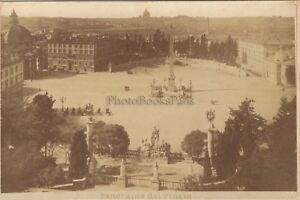 Roma Panorama Dal Pincio Italia Foto Vintage Albumina Ca 1880