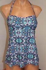 NWT Jessica Simpson Swimsuit Bikini Tankini Top Sz XL Lt Petal Bandeau Strapless