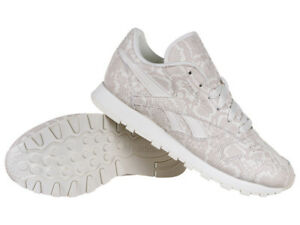 Stylish Sneakers Snake Classic Reebok Leather Trainers Women's XwOFH4q
