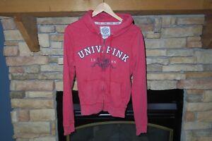 Taglia Felpa gc By Secret con Victoria's con University L usata cappuccio Pink rossa cerniera BvFwII