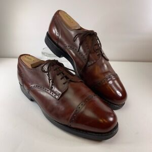 Allen-Edmonds-Mens-Oxford-Dress-Shoes-Brown-Cap-Almond-Toe-Lace-Up-10-5-EEE