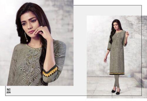 Women Indian Kurti Kurta Embroidery Top Stitched Kameez Women Ladies
