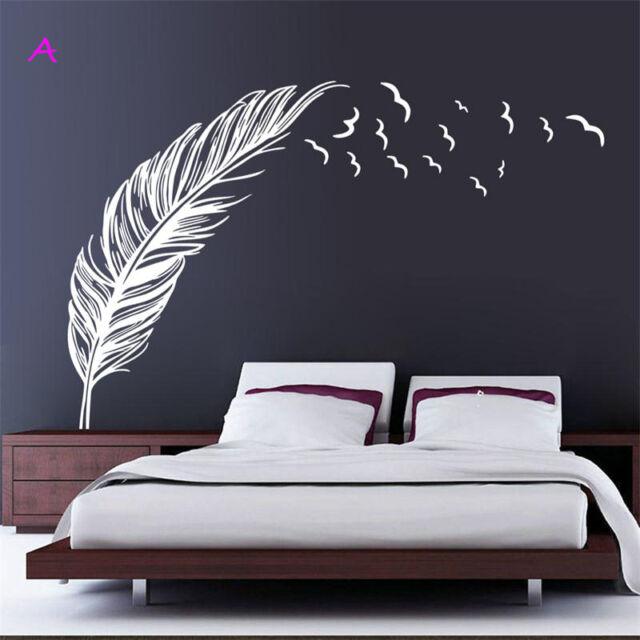 Wall Sticker Vinyl Birds Flying Feather Bedroom Home Decal Mural Art  Decor