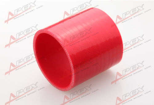 "3 Ply 1/"" inch Straight Hose 70mm Turbo Silicone Coupler Pipe Red"