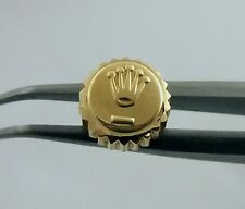 14K Yellow Gold Mens Datejust 6mm Rolex Oyster Watch Crown Part  1601 16013