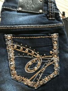 RODEO-GIRL-By-LIZ-Girl-039-s-Denim-Jeans-Embellished-Bling-Pockets-Sizes-7-10-NWT