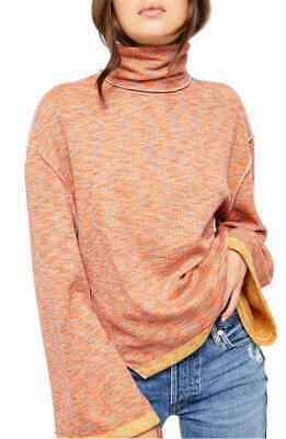 Free People Sunny Days Turtleneck Sweater Black Combo