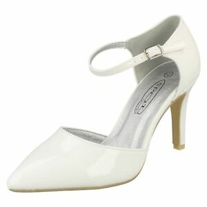 Ladies Spot On Heeled Ankle Strap Shoes