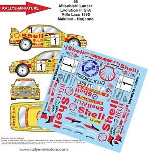 DECALS-1-43-REF-56-MITSUBISHI-LANCER-MAKINEN-RALLYE-DES-1000-LACS-1995-RALLY-WRC