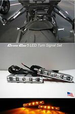 Motorcycle TURN Signal Blinker Rear Front Bike Chrome 5 LED Victory Shadow HRC S