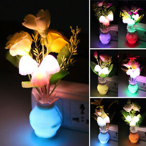 rosen lilien blumen vase led licht nachtlicht lampen wohndeko batterie geschenk ebay. Black Bedroom Furniture Sets. Home Design Ideas