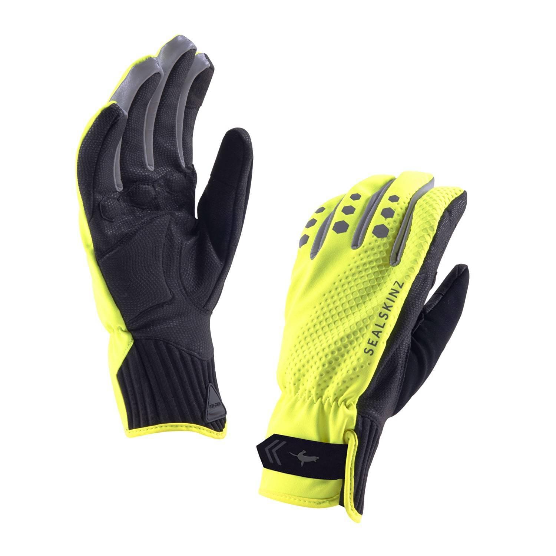 Sealskinz UK All Weather Cycle Gloves (Hi Vis Gelb / L)