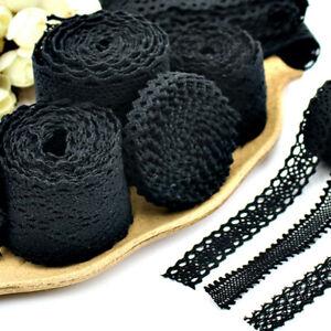 5Meters-Black-100-Cotton-Lace-Edge-Trims-DIY-Ribbon-Applique-Crochet-Sewing