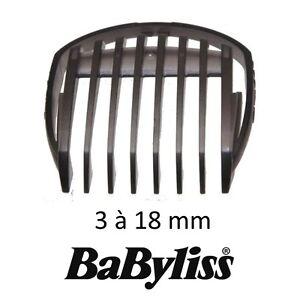 BABYLISS 35807091 SABOT 3 18 MM Guide de coupe tondeuse TECH E779 E709 E769E