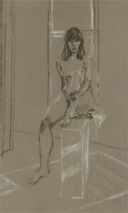Simon Cesarani - Mid 20th Century Charcoal Drawing, Nude Portrait