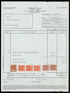 FT0027 Selm S. R.l Milano - Invoice D' Epoca