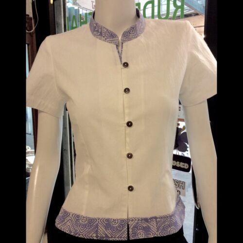 116N Women/'s top spa uniform Thai wear 100/% Cotton