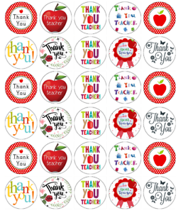 30x Thank You Teacher Cupcake Toppers Comestible Gaufre Papier Fée Gâteau Toppers
