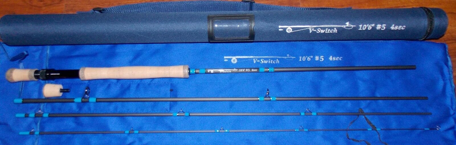5  WT V-Switch  Fly Fishing Rod  10 1 2 ft  4 Sec.with Tube  FREE 3 DAY SHIPPING  enjoy saving 30-50% off