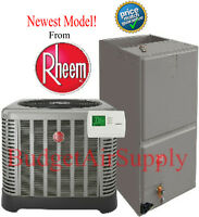 Rheem/ruud 2 Ton 15 Seer A/c Split System 2 Stage Air Ra1424aj1+rh2t2421mtan on sale