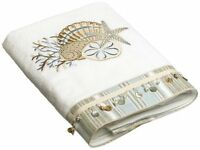 Avanti Linens By The Sea Bath Towel, White, New, Free Shipping on sale