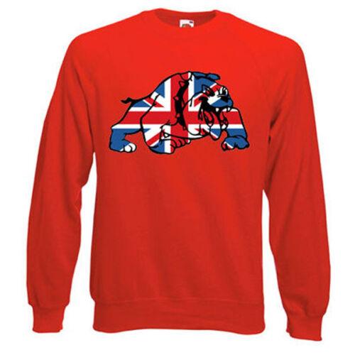 Union Jack Bulldog Felpa Scelta di taglie e colori BEST Of British