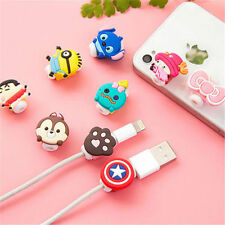 LOT OF 24 PCS USB CHARGER CABLE SAVER PROTECTOR CARTOON APPLE IPHONE SAMSUNG HTC