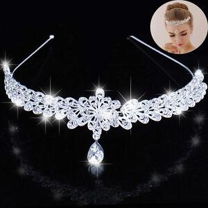 Crystal-Wedding-Prom-Crown-Rhinestone-Hair-Jewelry-Headband-Bridal-Veil-Tiara