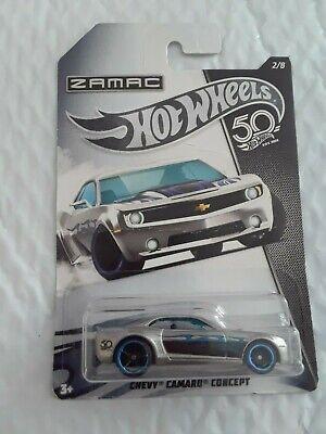CHEVY CAMARO CONCEPT #2 Walmart ZAMAC 50TH ANNIVERSARY✰blue✰2018 Hot Wheels