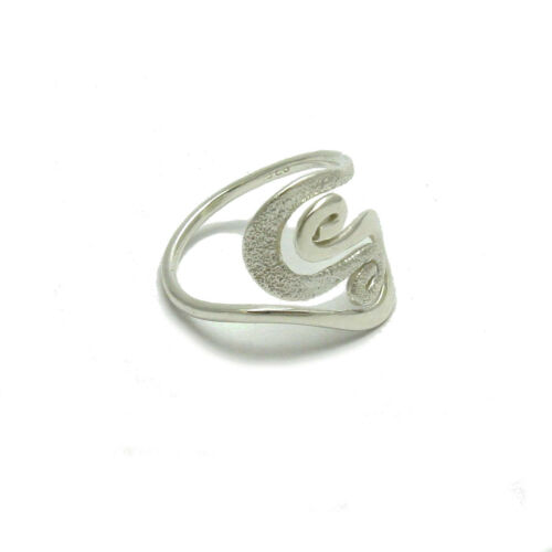 Stylish Sterling Silver Ring Solid 925 Laser terminé R001763 EMPRESS