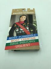 4 Pack NWT Holiday Party Ugly Sweater Award Sashes Banners