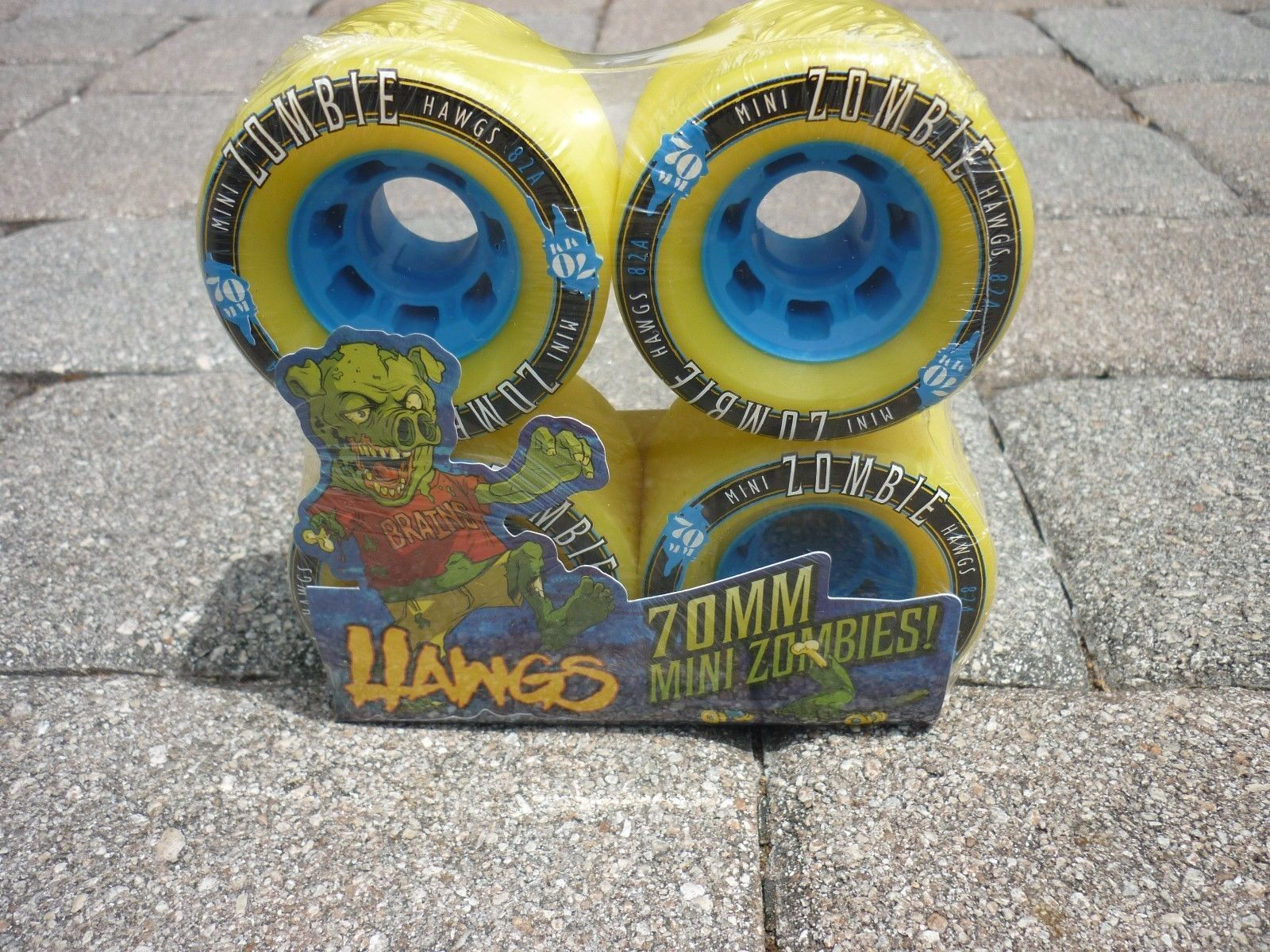 NEW Landyachtz Mini Zombie Hawgs  Wheels 70mm 82a Longboard S board set of 4  wholesale cheap