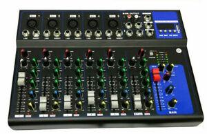 MIXER-AUDIO-7-CANALI-PROFESSIONALE-USB-CON-ECHO-DELAY-DJ-KARAOKE-PIANOBAR-LIVE