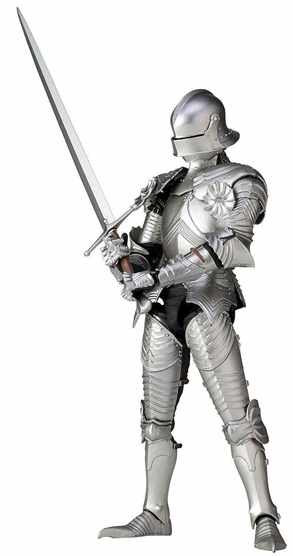 Kaiyodo TK-021 Takeyashiki 15th Century Gothic Field Armor Silber Action Figure