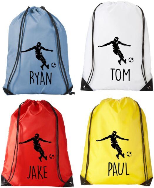 Personalised Football Drawstring  Bag PE Kit Sack Sports Kids
