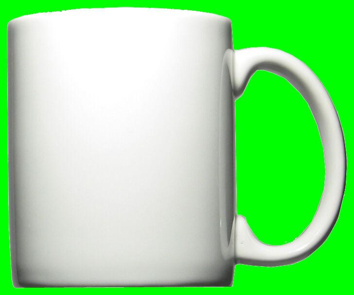 12 Keramikbecher Kaffeebecher Kaffeetassen Henkelbecher Sandra weiß 34 cl  o  | Große Auswahl