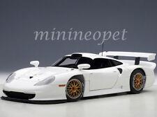 AUTOart 89771 1997 PORSCHE 911 GT1 PLAIN BODY VERSION 1/18 DIECAST MODEL WHITE