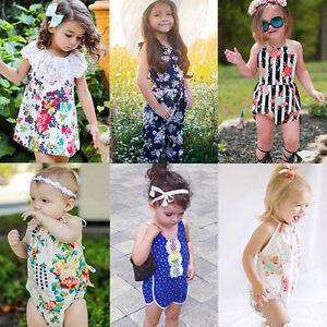 e85e06141 Image is loading Newborn-Infant-Baby-Girl-Floral-Romper-Bodysuit-Jumpsuit-