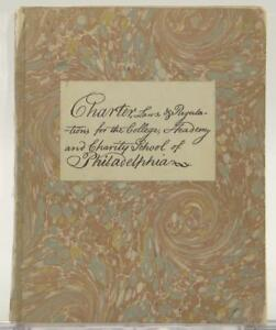 Limited-Edition-1940-University-of-Pennsylvania-Charter-Laws-Rev-William-Smith