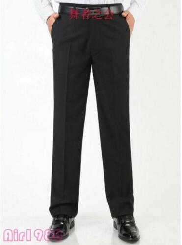 Mens Black Ballroom Latin Rhythm Salsa Competition Dancing Loose Pants Trousers