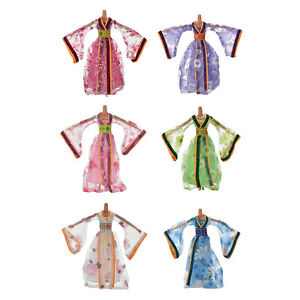 Dress-for-Classical-Beautiful-Chinese-Ancient-Dress-Doll-Toy-6Colors-OJ
