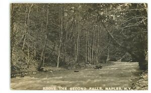 RPPC-2nd-Falls-Grimes-Glen-NAPLES-NY-Ontario-County-Real-Photo-Postcard
