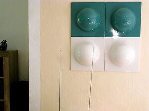 4 Bubble Elemente 70er 60er Style 2 gold  2 kupfer Bild Bilder Deko Nr 21 °