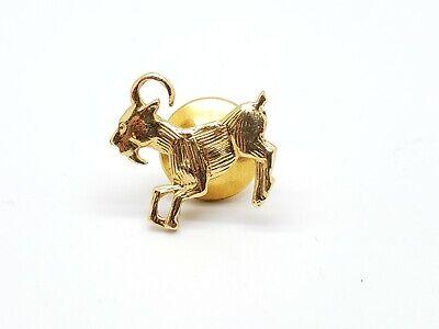 14K Carnelian Inlay Squared Ornate Lapel PinBrooch Yellow Gold