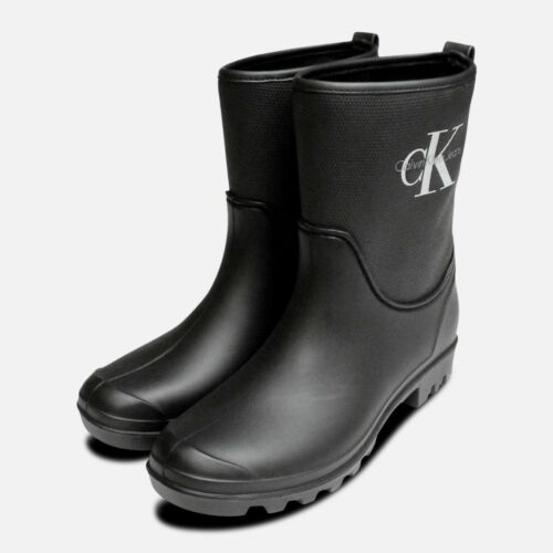 Wellington Black Philippa Boots Rubber Calvin Klein qzwfI56n